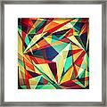 Broken Rainbow Framed Print