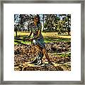 Bronze Girl At Woodward Park Framed Print