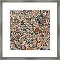 Brown Red Granite  Framed Print
