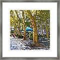 Bryant Park October Framed Print by Liz Leyden