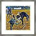 Bucked Off Proper Framed Print