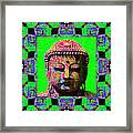 Buddha Abstract Window 20130130m180 Framed Print by Wingsdomain Art and Photography