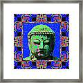 Buddha Abstract Window 20130130m68 Framed Print by Wingsdomain Art and Photography