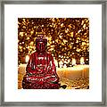 Buddha And Candles Framed Print by Olivier Le Queinec