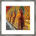 Buddhas At Wat Arun, Bangkok Framed Print