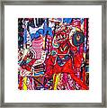 Buddhist Dancers 2 Framed Print