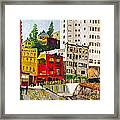 Building A City By Stan Bialick Framed Print