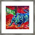 Bull Market Framed Print by Teshia Art