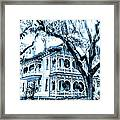 Bull Street House Savannah Ga Framed Print