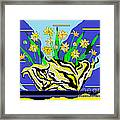 Bumble Bee Vase Framed Print by Lewanda Laboy