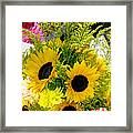 Bunch Of Sunflowers Framed Print