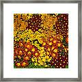 Bunches Of Yellow Copper Orange Red Maroon - Hot Autumn Abundance Framed Print