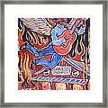 Burnin' Blue Spirit Framed Print by Robert Ponzio