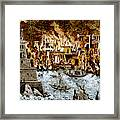 Burning Of The Royal Library Framed Print