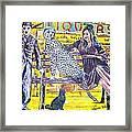 Bus Stop Framed Print by Linda Vaughon
