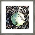 Busted Stitches Framed Print