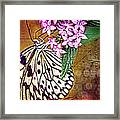Butterfly Art - Hanging On - By Sharon Cummings Framed Print by Sharon Cummings