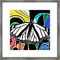 Butterfly Abstract Wall Art Decor Framed Print