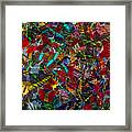 Butterfly Collage Red Framed Print