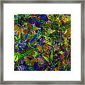 Butterfly Collage Yellow Framed Print