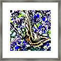 Butterfly With Purple Flowers 4 Framed Print