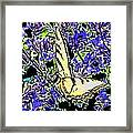 Butterfly With Purple Flowers Framed Print