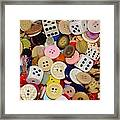 Buttons 676 Framed Print