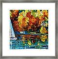 By The Rivershore Framed Print