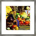 Cabbage Patch Kids - Giant Pumpkins - Marche Atwater Montreal Market Scene Art Carole Spandau Framed Print