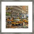 Cabs In The Canyons Framed Print