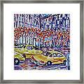 Cabs New York Framed Print
