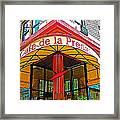Cafe De La Presse In San Francisco-california  Framed Print