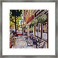 Cafe Nola Framed Print