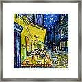 Cafe Terrace At Night Framed Print