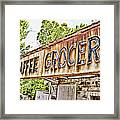 Caffee Grocery Framed Print