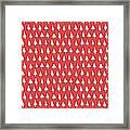 Cal Tree Red Framed Print