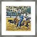 Calf Ropers Framed Print