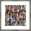 Calico Bags Framed Print by Brenda Bryant