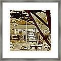California Coastal Harbor Framed Print