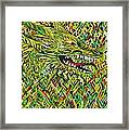 Camo Dragon Framed Print by Michael Henzel