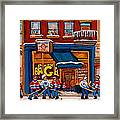 Canadian  Artists Paint Hockey And Montreal Streetscenes Over 500 Prints Available  Framed Print