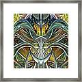 Candle Light Abstract Flame Fx  Framed Print