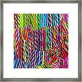 Candy Twists Framed Print