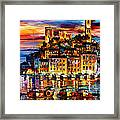 Cannes-france - Palette Knlfe Oil Painting On Canvas By Leonid Afremov Framed Print