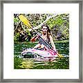 Canoe For Girls Framed Print