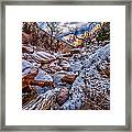 Canyon Stream Winterized Framed Print