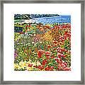 Cape Cod Ocean Garden Framed Print