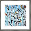 Cardinals Among The Birch-jp2061 Framed Print