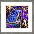 Carousel Beauty Blue Charger Framed Print