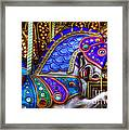 Carousel Beauty Prancing Framed Print